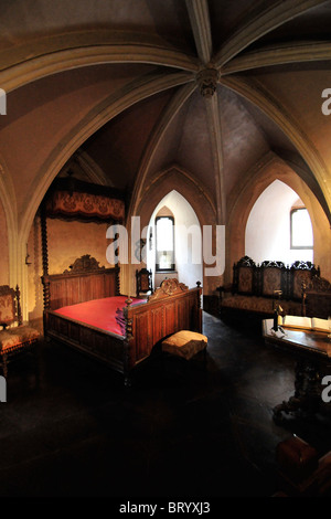 INTERIOR OF THE CHATEAU DE RAMBURES, SOMME (80), PICARDY, FRANCE - Stock Photo