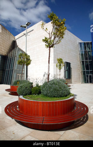 Architectural details near to the entrance to the  Guggenheim Museum, Bilbao, Spain - Stock Photo
