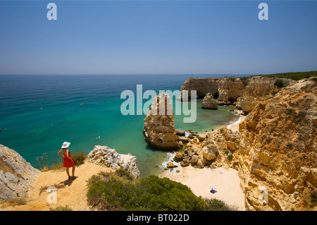 Praia da Marinha, Algarve, Portugal - Stock Photo