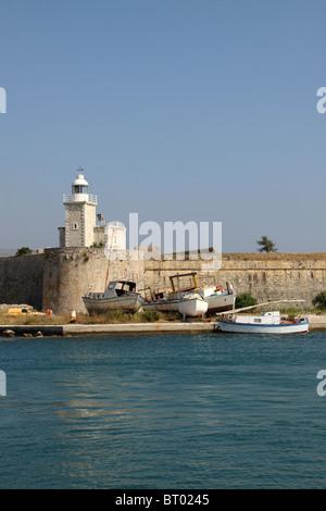 Agia mavra Castle, Lefkada, Ionian Island, Greece - Stock Photo