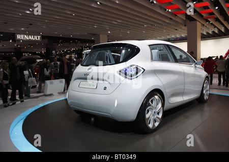 Renault concept car ZOE, Paris Car Show 2010, Paris, Porte de Versailles - Stock Photo