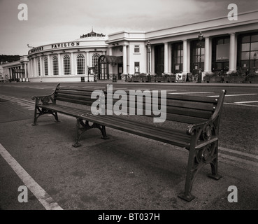 Out of season at the Winter Gardens Pavilion on the seafront of the seaside town of Weston-super-Mare in Somerset, - Stock Photo