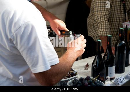 Fête des vendanges, grape harvest Festival in Montmartre, Paris, France - Stock Photo