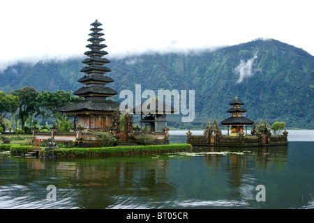 Ulu Danu Temple, Lake Bratan, Bali, Indonesia - Stock Photo