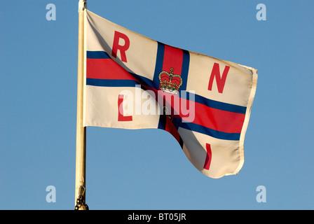 Royal National Lifeboat Institute flag - Stock Photo