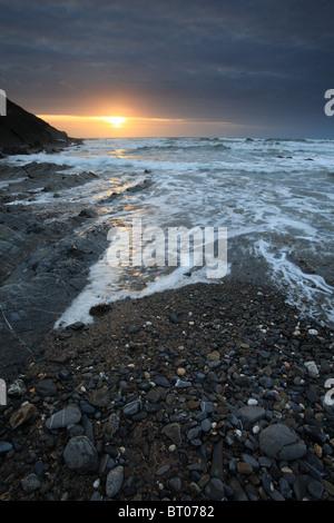 Crackington Haven Beach, North Cornwall, England, UK - Stock Photo