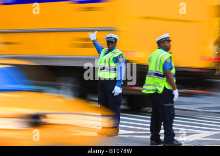 Heavy traffic on 5th Avenue, New York City - Stock Photo