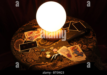 Fortune telling and Tarot cards - Stock Photo