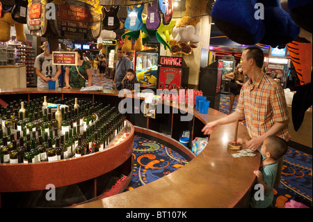 people enjoying the games in the fairground basement the excalibur