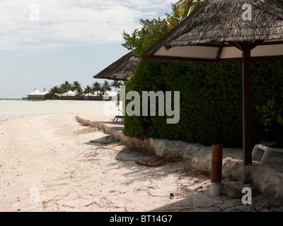 Erosion on Maldivian island, showing signs of rising sea levels