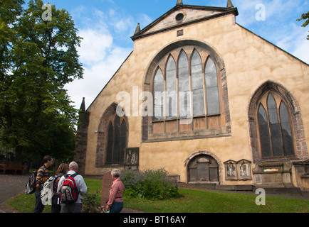 Greyfriar's Church with the grave of the famous dog Bobby, Edinburgh, Scotland. - Stock Photo