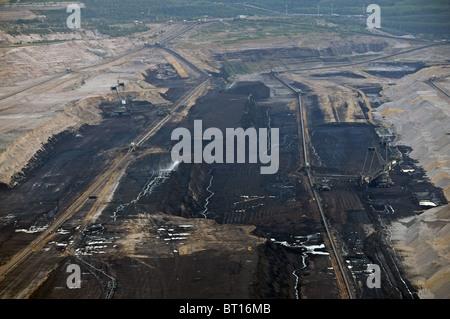 Hambach open-cast coal mine, Germany. - Stock Photo