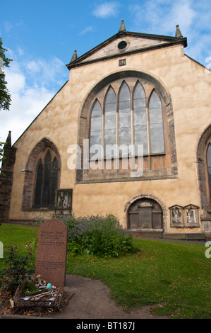 Greyfriar's Church with the grave of Bobby in Edinburgh, Scotland - Stock Photo