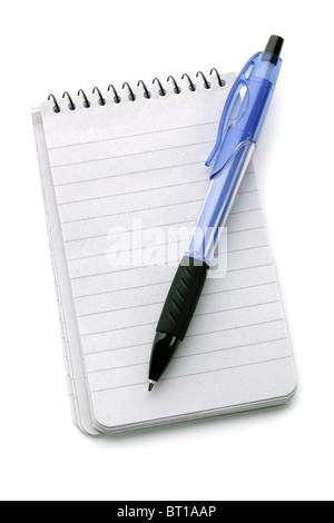 Notebook and ballpoint pen - Stock Photo
