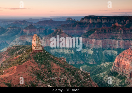 Mount Hayden, near Point Imperial on the North Rim of the Grand Canyon, Grand Canyon National Park, Arizona, USA - Stock Photo
