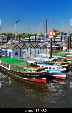 motorboats in harbor stock photo royalty free image 47480561 alamy. Black Bedroom Furniture Sets. Home Design Ideas