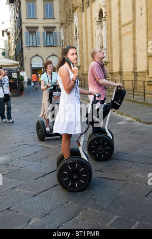 segway pt personal transport transportation transporter self balancing electric vehicle travel sight seeing tour - Stock Photo