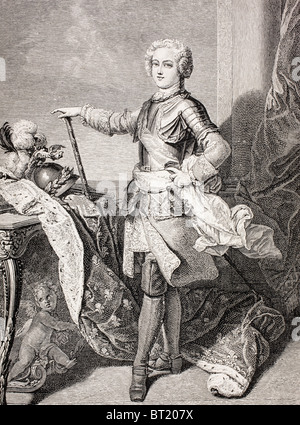 The young King Louis XV of France, 1710 - 1774. - Stock Photo