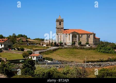 La Iglesia de San Martín de Tours Ajo Cantabria España Church San Martín de Tours Ajo Cantabria Spain - Stock Photo