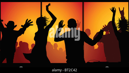 night-club concept (made from my photos) - Stock Photo