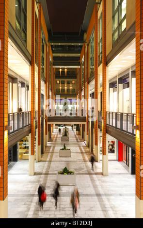 The interior of The Mailbox shopping centre Birmingham England
