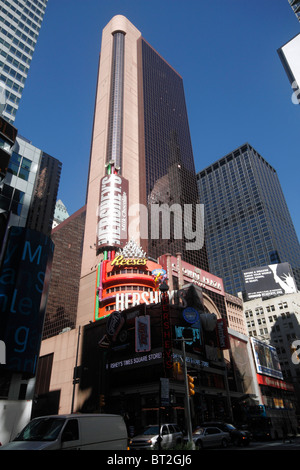 The Hershey Candy store in Times Square, New York City - Stock Photo
