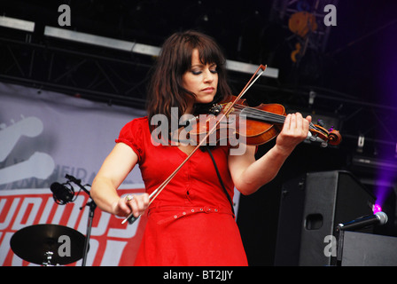 Ellen ten Damme on stage at 2009 Bevrijdingsfestival Roermond Netherlands - Stock Photo