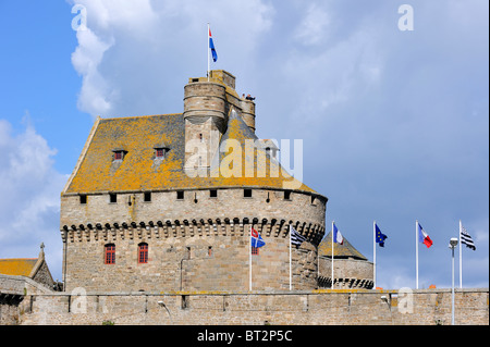 The Castle at Saint-Malo, Brittany, France - Stock Photo