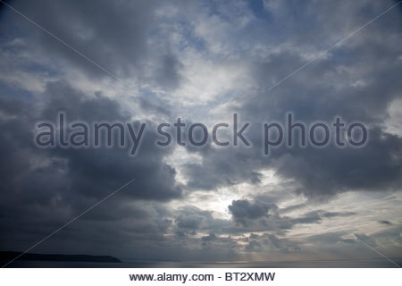 A dark moody sky - Stock Photo