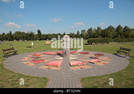 The Royal British Legion Poppy Field Memorial at the National Memorial Arboretum, Alrewas, Staffordshire, UK. - Stock Photo