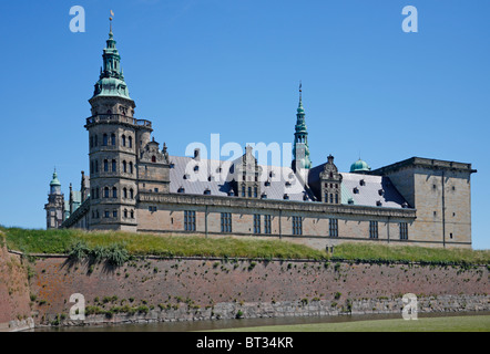 The renaissance castle Kronborg in Elsinore, Denmark - Stock Photo