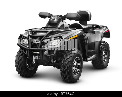 Can-Am BRP Outlander 500 ATV. Bombardier Recreational Products. Isolated with clipping path on white background. - Stock Photo