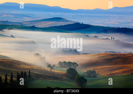 Val d'Orcia in Italy's Tuscany province - Stock Photo