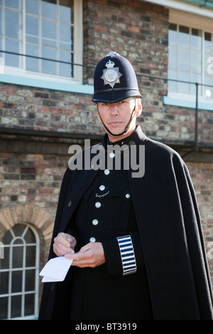 World War II, Costumed Re-enactor   1940s British policeman in Uniform at Pickering Wartime Weekend, 2010, UK - Stock Photo