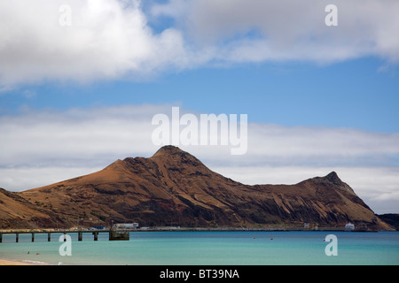Porto Santo Headland and beach - Stock Photo