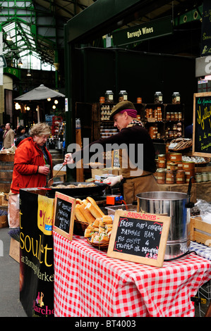 A French Produce sandwich stall at Borough Market, Southwark, London, England, UK - Stock Photo