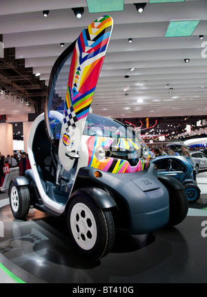 Concept electric Renault Twizy at Paris Motor Show 2010 - Stock Photo