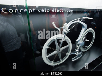 Concept for electric bicycle by Peugeot at Paris Motor Show 2010 - Stock Photo