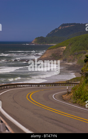 FLORENCE, OREGON, USA - Scenic Route 101 on central Oregon coast. - Stock Photo