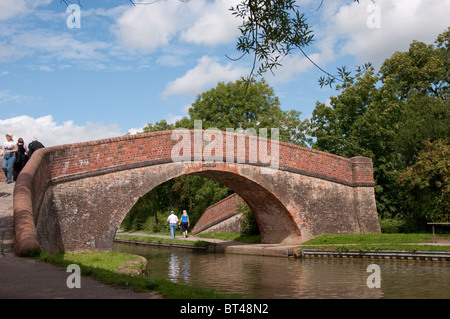 Bridge over the Grand Union Canal at Foxton, Leicestershire, England. - Stock Photo