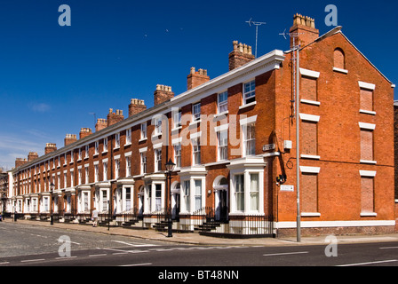 Victorian terraced housing on a summers day, Liverpool, England, UK - Stock Photo