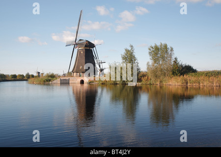 Windmills, Kinderdijk, Netherlands, Holland - Stock Photo