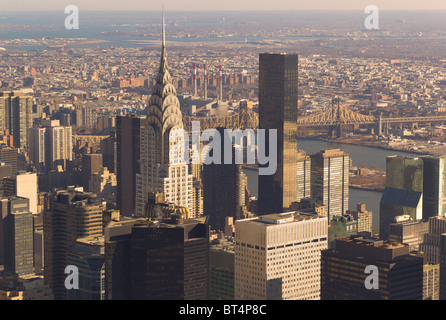 View looking northeast from the Empire State Building - Stock Photo
