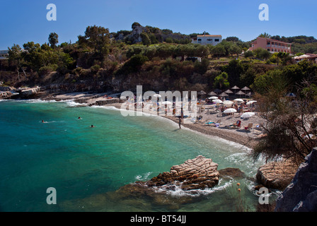 Kassiopi Beach, Corfu, Ionian Islands Greece. - Stock Photo