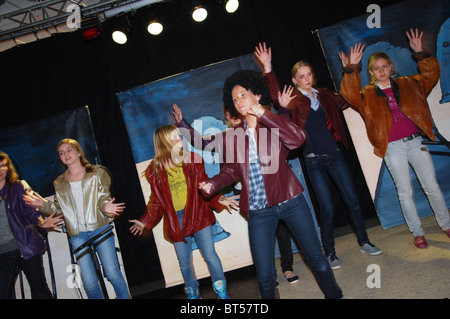 Acting in a school play - Stock Photo