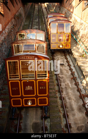 Funicular Railway - Castle District - Budapest, Hungary - Stock Photo