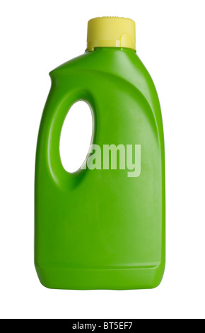 Green plastic bottle - Stock Photo