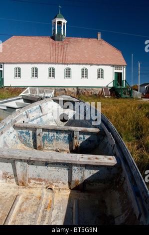 Canada, Labrador, Hopedale (aka Agvituk). Hopedale Mission National Historic Site. - Stock Photo