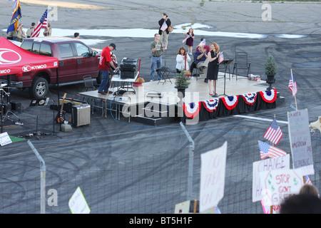 TEA Party rally at Stateline, Idaho, September, 17, 2009. - Stock Photo