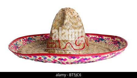 Sombrero Mexico Mexican straw hat head cover shade sun protection celebration celebrate accessory - Stock Photo